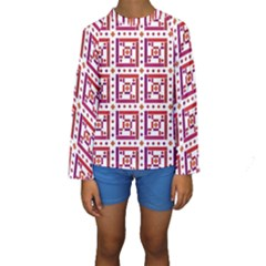 Background Abstract Square Kids  Long Sleeve Swimwear