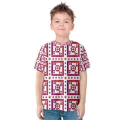 Background Abstract Square Kids  Cotton Tee