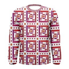 Background Abstract Square Men s Long Sleeve Tee