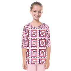 Background Abstract Square Kids  Quarter Sleeve Raglan Tee
