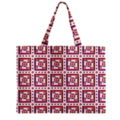 Background Abstract Square Zipper Mini Tote Bag