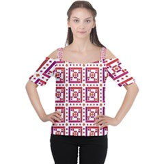 Background Abstract Square Cutout Shoulder Tee