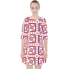 Background Abstract Square Pocket Dress