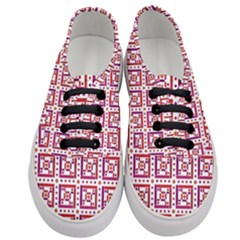 Background Abstract Square Women s Classic Low Top Sneakers
