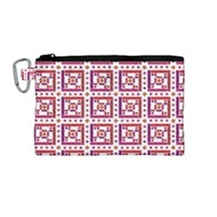 Background Abstract Square Canvas Cosmetic Bag (medium) by Nexatart