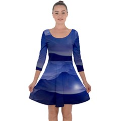 Planet Discover Fantasy World Quarter Sleeve Skater Dress