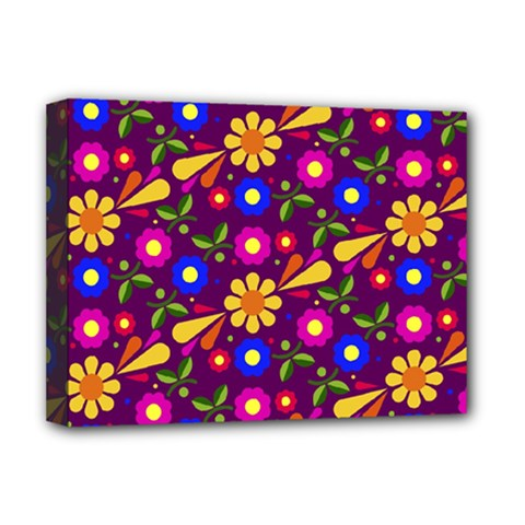 Flower Pattern Illustration Background Deluxe Canvas 16  X 12