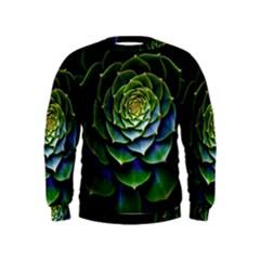 Nature Desktop Flora Color Pattern Kids  Sweatshirt