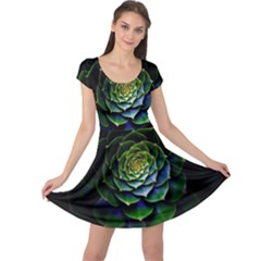 Nature Desktop Flora Color Pattern Cap Sleeve Dress