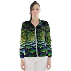 Nature Desktop Flora Color Pattern Wind Breaker (women)