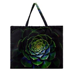 Nature Desktop Flora Color Pattern Zipper Large Tote Bag