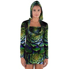 Nature Desktop Flora Color Pattern Long Sleeve Hooded T Shirt