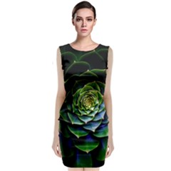 Nature Desktop Flora Color Pattern Classic Sleeveless Midi Dress