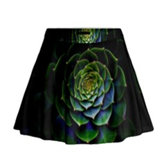 Nature Desktop Flora Color Pattern Mini Flare Skirt