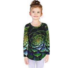 Nature Desktop Flora Color Pattern Kids  Long Sleeve Tee