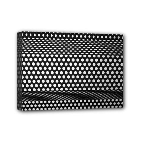 Holes Sheet Grid Metal Mini Canvas 7  X 5
