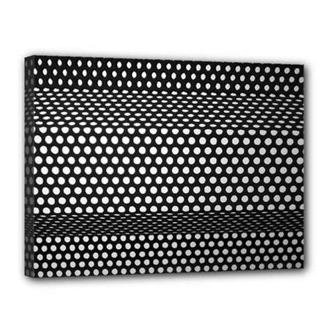 Holes Sheet Grid Metal Canvas 16  X 12