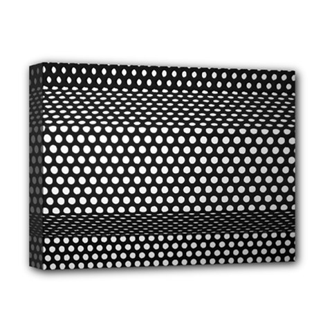 Holes Sheet Grid Metal Deluxe Canvas 16  X 12
