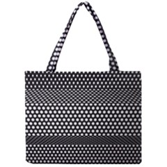 Holes Sheet Grid Metal Mini Tote Bag