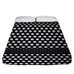 Holes Sheet Grid Metal Fitted Sheet (queen Size) by Nexatart
