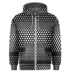 Holes Sheet Grid Metal Men s Zipper Hoodie