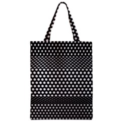 Holes Sheet Grid Metal Zipper Classic Tote Bag