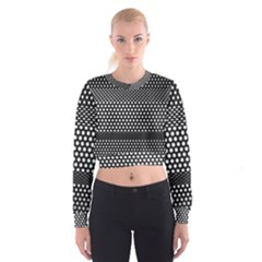 Holes Sheet Grid Metal Cropped Sweatshirt
