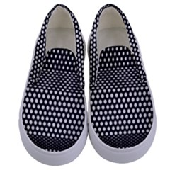 Holes Sheet Grid Metal Kids  Canvas Slip Ons