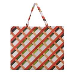 Wallpaper Creative Design Zipper Large Tote Bag
