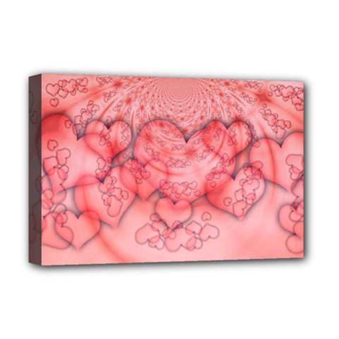 Heart Love Friendly Pattern Deluxe Canvas 18  X 12