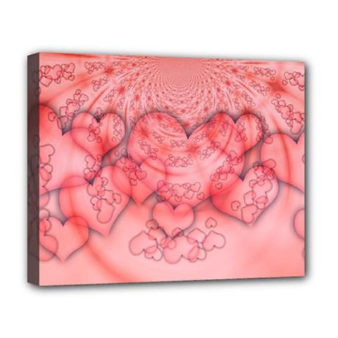 Heart Love Friendly Pattern Deluxe Canvas 20  X 16   by Nexatart