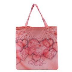 Heart Love Friendly Pattern Grocery Tote Bag
