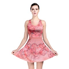 Heart Love Friendly Pattern Reversible Skater Dress