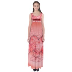 Heart Love Friendly Pattern Empire Waist Maxi Dress