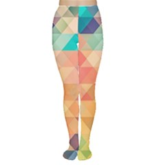Texture Background Squares Tile Women s Tights
