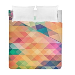 Texture Background Squares Tile Duvet Cover Double Side (full/ Double Size)