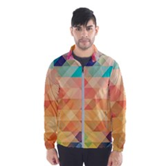 Texture Background Squares Tile Wind Breaker (men)