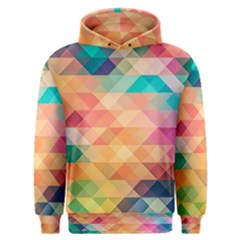 Texture Background Squares Tile Men s Overhead Hoodie