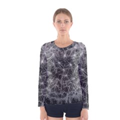 Dandelion Fibonacci Abstract Flower Women s Long Sleeve Tee