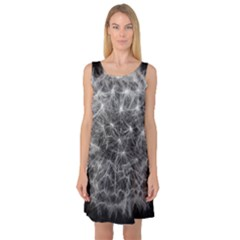 Dandelion Fibonacci Abstract Flower Sleeveless Satin Nightdress