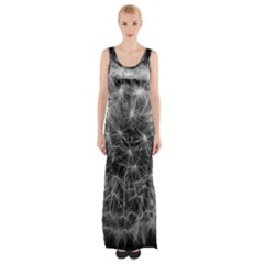Dandelion Fibonacci Abstract Flower Maxi Thigh Split Dress