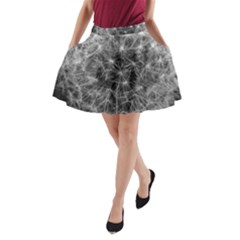 Dandelion Fibonacci Abstract Flower A Line Pocket Skirt