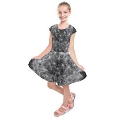 Dandelion Fibonacci Abstract Flower Kids  Short Sleeve Dress