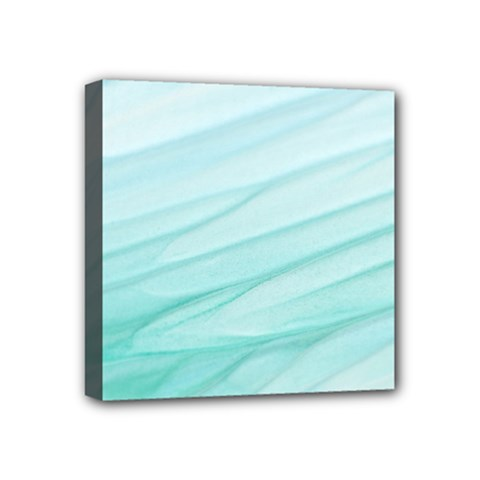 Blue Texture Seawall Ink Wall Painting Mini Canvas 4  X 4  by Nexatart