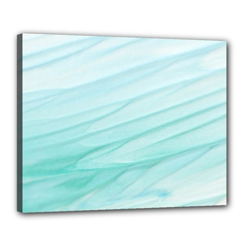 Blue Texture Seawall Ink Wall Painting Canvas 20  X 16