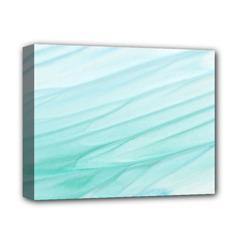 Blue Texture Seawall Ink Wall Painting Deluxe Canvas 14  X 11