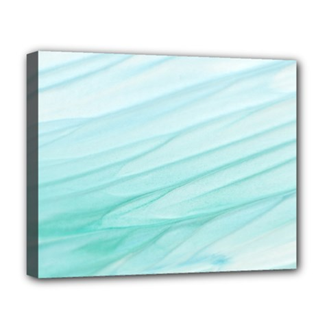 Blue Texture Seawall Ink Wall Painting Deluxe Canvas 20  X 16