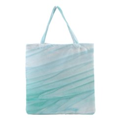 Blue Texture Seawall Ink Wall Painting Grocery Tote Bag