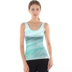 Blue Texture Seawall Ink Wall Painting Tank Top