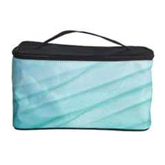 Blue Texture Seawall Ink Wall Painting Cosmetic Storage Case